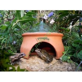 Ceramiczny domek żaby lub ropuchy Frogilo