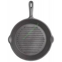 Patelnia żeliwna grillowa - okrągła / Kitchen Craft