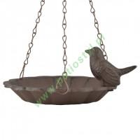Karmnik/Poidełko dla ptaków żeliwny, wiszący