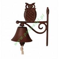 Dzwonek żeliwny do drzwi z sową SOWA