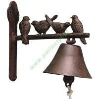 Dzwonek żeliwny do drzwi PTASZKI