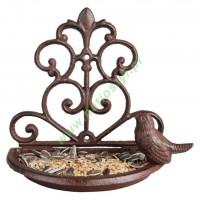 Karmnik/Poidełko żeliwne dla ptaków na ścianę