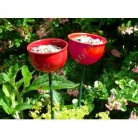 Karmnik metalowy kwiatowy  - kolor czerwony