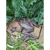 Żeliwna żaba, dekoracja do ogrodu, oczka wodnego