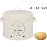 Pojemnik metalowy na ziemniaki z wentylacją