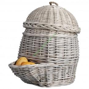 Wiklinowy kosz z szufladką na ziemniaki