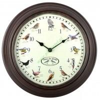 Zegar ścienny odgłosy ptaków
