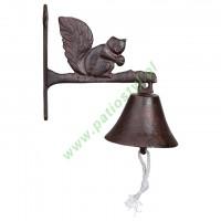 Dzwonek żeliwny do drzwi WIEWIÓRKA
