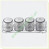 Zestaw pojemników ceramicznych na przyprawy 5 elementów