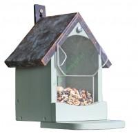 Karmnik dla wiewiórek z miedzianym dachem