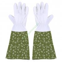 Rękawice ogrodowe skórzane, długie damskie M