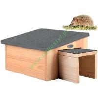 Domek dla jeża drewniany