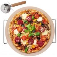 Kamień do pieczenia pizzy stojak nóż