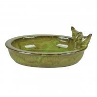 Poidełko dla ptaków ceramiczne owalne