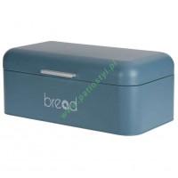 Chlebak, Pojemnik metalowy na chleb, pieczywo niebieski