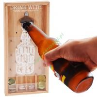 Otwieracz do piwa  gra w ramce do powieszenia