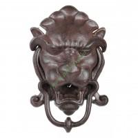 Kołatka żeliwna do drzwi głowa lwa , dzwonek do drzwi